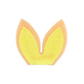"Cream + Yellow - 1.75"" Felt + Glitter Bunny Ears"
