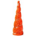 "Orange Sequins - 5"" Padded Unicorn Horn"