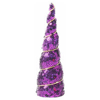"Purple Sequins - 5"" Padded Unicorn Horn"