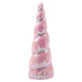 "Light Pink Iridescent Sequins - 4.5"" Padded Unicorn Horn"