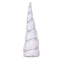 "Silver + White Mermaid Scales - 5"" Padded Unicorn Horn"