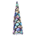 "Ombre Rainbow Mermaid Scales - 5"" Padded Unicorn Horn"