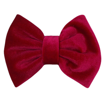"Hot Pink - 5"" Large Velvet Bow"
