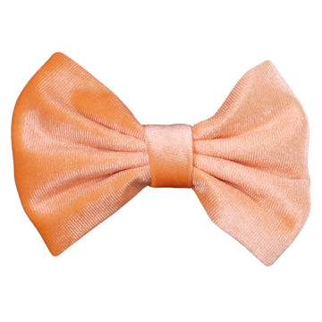 "Peach - 5"" Large Velvet Bow"