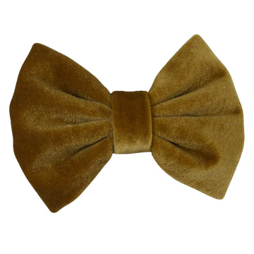 "Yellow Gold - 5"" Large Velvet Bow"