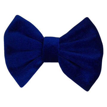 "Royal Blue - 5"" Large Velvet Bow"