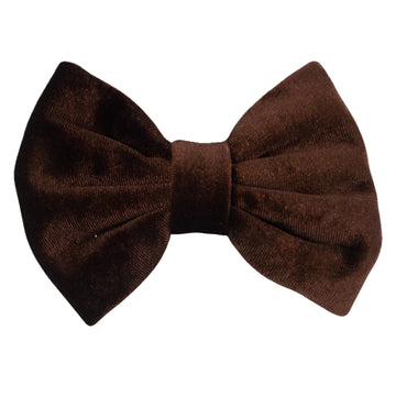 "Brown - 5"" Large Velvet Bow"
