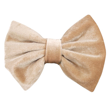 "Tan - 5"" Large Velvet Bow"