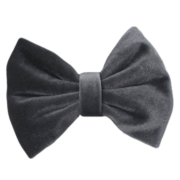 "Gray - 5"" Large Velvet Bow"