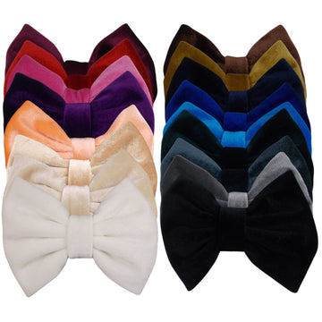 "Sampler - 5"" Large Velvet Bow - 18 Bows"