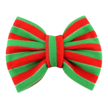 "Red + Green - 5"" Knit Christmas Bow"