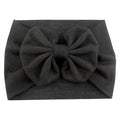 Black - Jersey Knit Bow Headwrap
