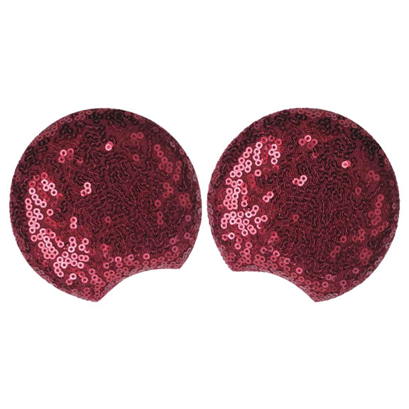 "Wine - 3.25"" Sequins Mouse Ears"
