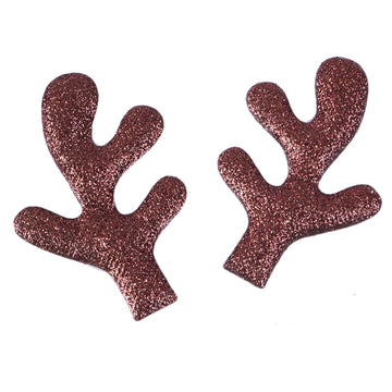 "Brown - 3.25"" Glitter Padded Antlers"