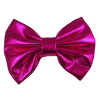 "Hot Pink - 5"" XL Shiny Metallic Bow"