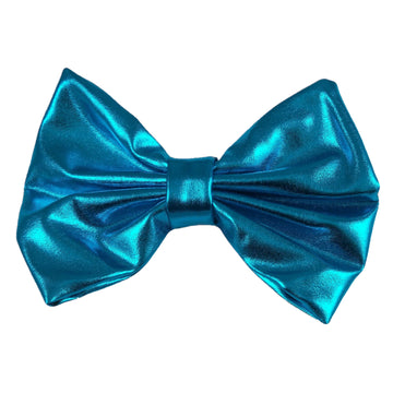 "Blue - 5"" XL Shiny Metallic Bow"