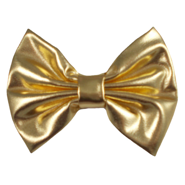 "Gold - 5"" XL Shiny Metallic Bow"