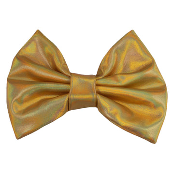 "Gold Iridescent - 5"" XL Shiny Metallic Bow"