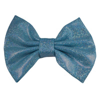 "Blue Shimmer - 5"" XL Shiny Metallic Bow"