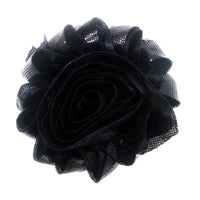 "Metallic Black - 2.5"" Printed Shabby Trim"