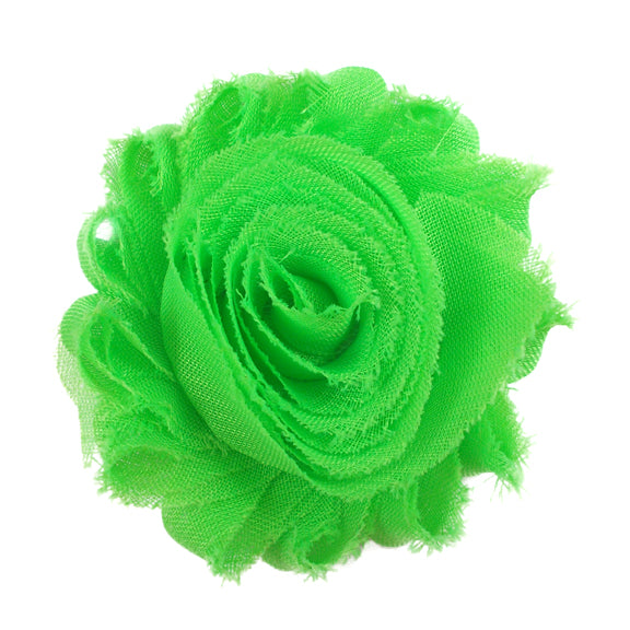 "Neon Green - 2.5"" Solid Shabby Trim"