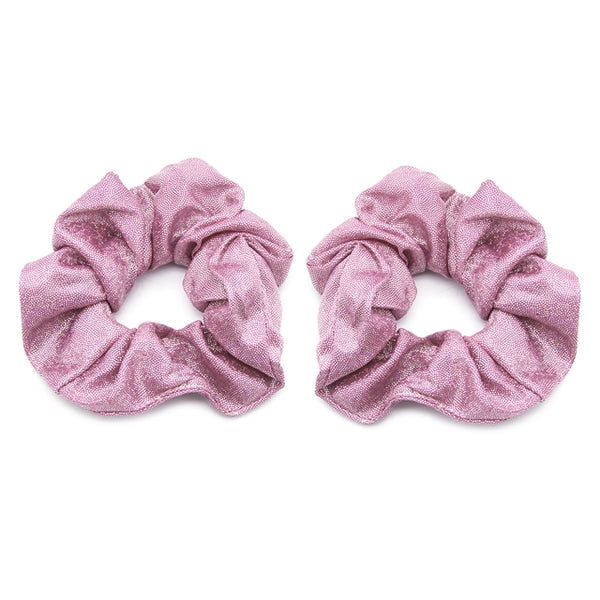 Pink Shimmer - Metallic Scrunchie