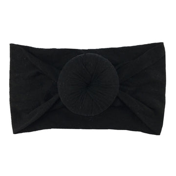 Black - Nylon Donut Headwrap