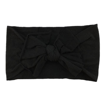 Black - Nylon Bow Headwrap