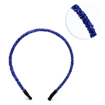 Royal Blue - 5mm Chunky Glitter Headband