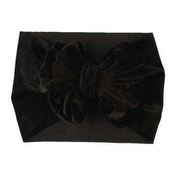 Black - Baby Velvet Bow Headwrap
