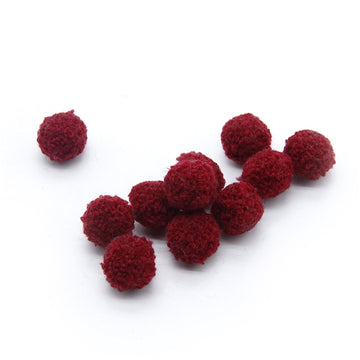 "Burgundy - 3/4"" Wool Ball"