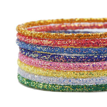 Grab Bag - 5mm Chunky Glitter Headbands - 10 Headbands