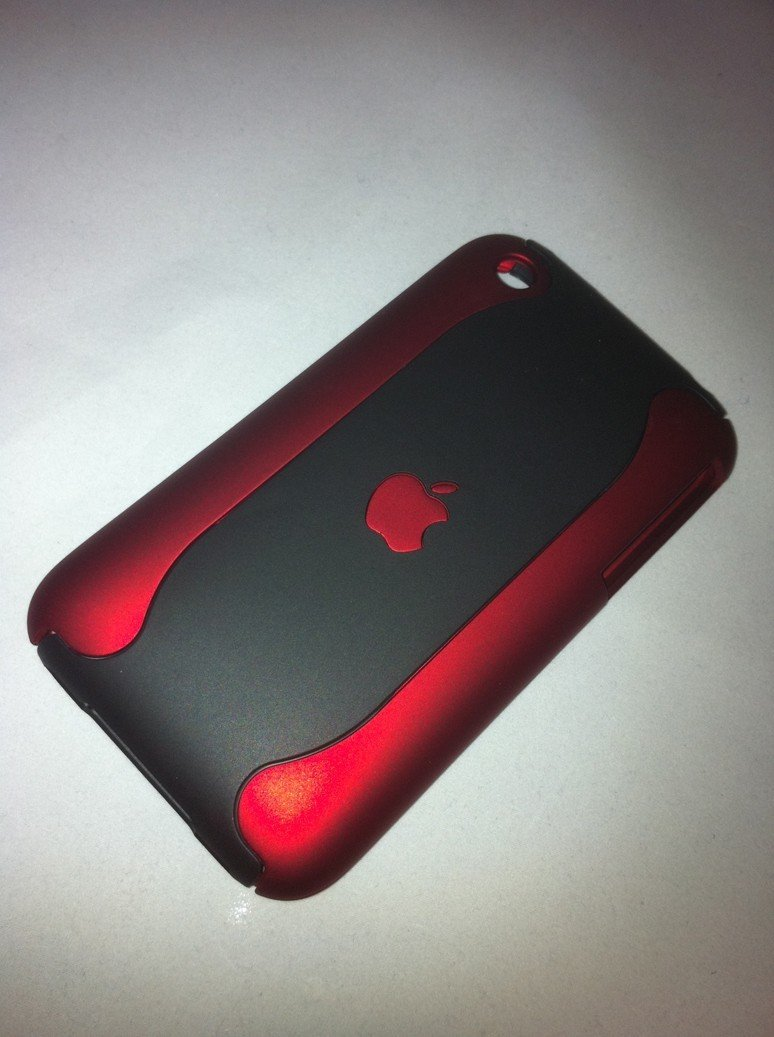iPhone 3G-3Gs Case - Red-Black