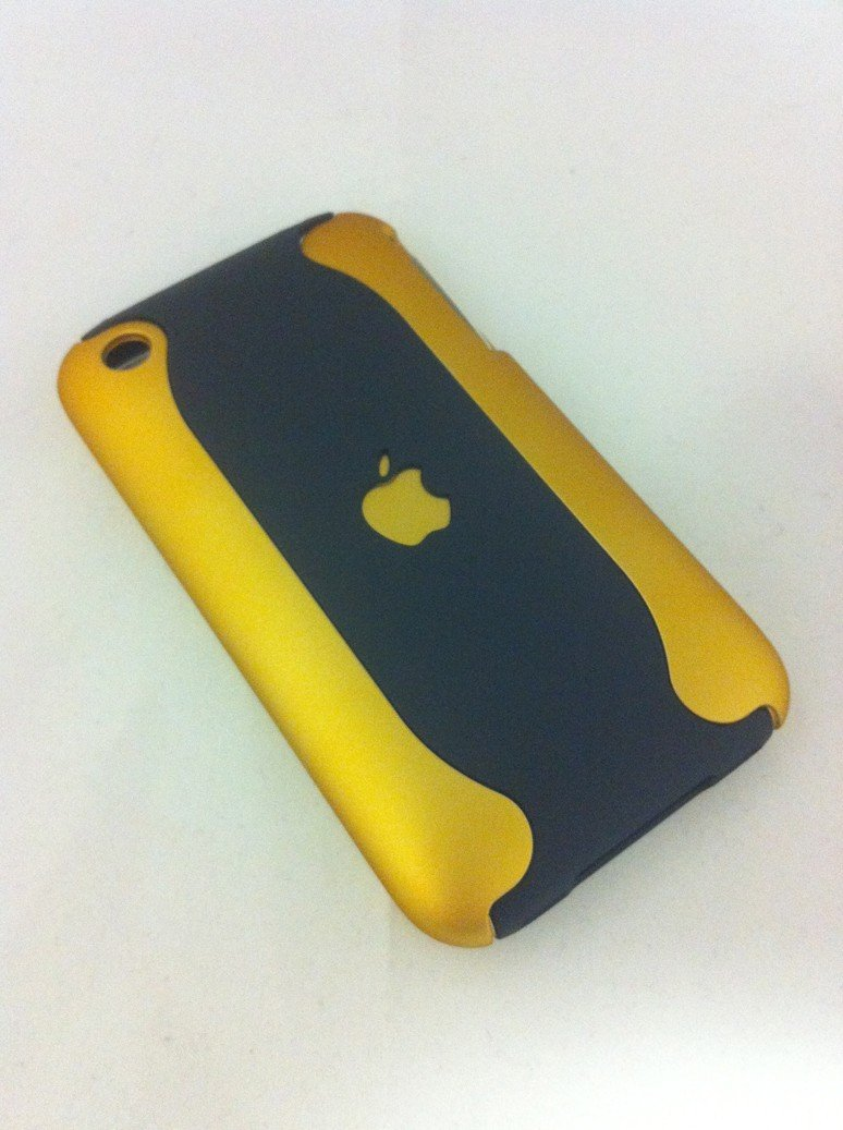 iPhone 3G-3Gs Case - Gold-Black
