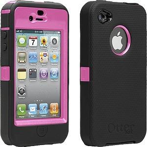 iPhone 4 Otterbox Defender Series - Black-Pink