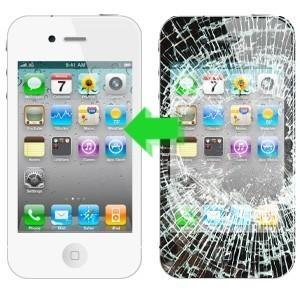 White iPhone 4 Glass Repair