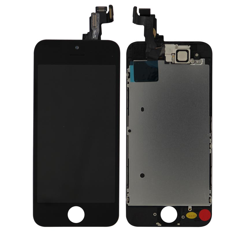 Complete Assembly - LCD Screen and Digitizer Assembly for iPhone 5S (Front camera / Prox Sensor / Earspeaker Pre-Installed) (Black)
