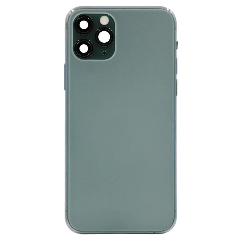 Glass Back Cover with Housing for iPhone 11 Pro (No Logo) (Green)