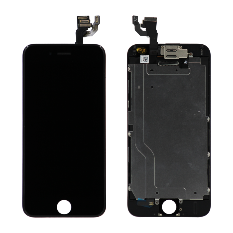 Complete Assembly - LCD Screen and Digitizer Assembly for iPhone 6 (Front camera / Prox Sensor / Earspeaker Pre-Installed) (Black)