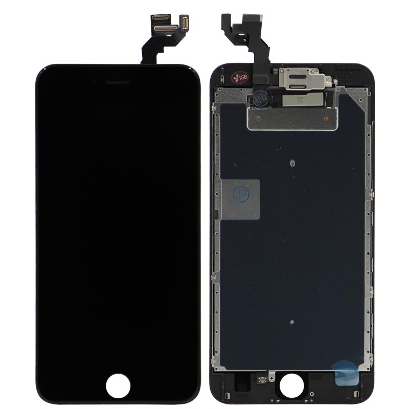 Complete Assembly - LCD Screen and Digitizer Assembly for iPhone 6S Plus (Front camera / Prox Sensor / Earspeaker Pre-Installed) (Black)