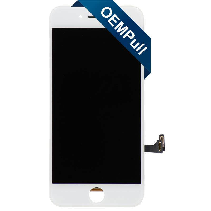 "OEM Pull LCD Screen and Digitizer Assembly, White, for iPhone 7 (4.7"")"