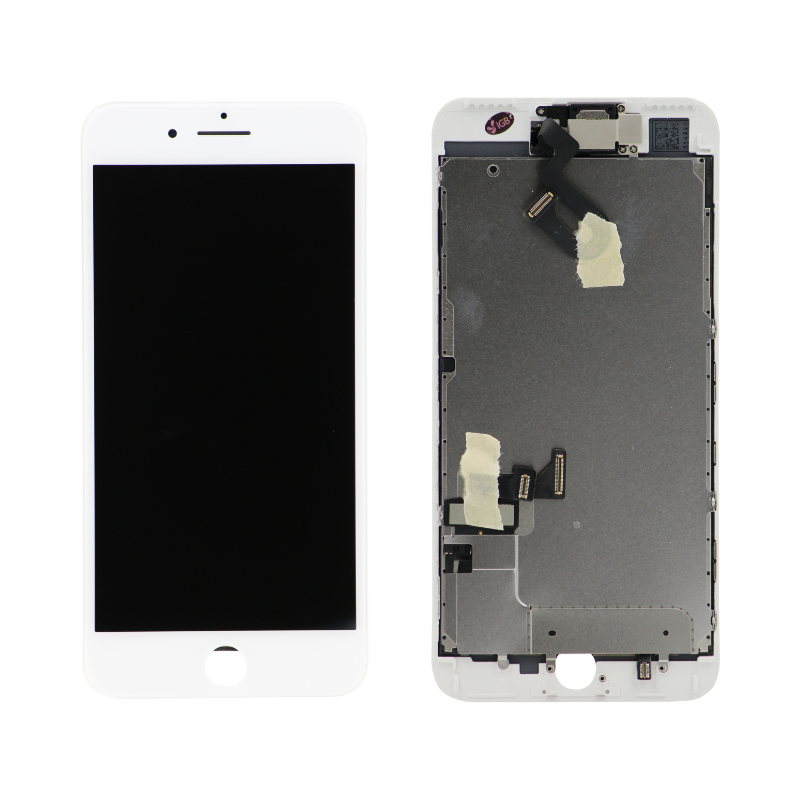Complete Assembly - LCD Screen and Digitizer Assembly for iPhone 7 Plus (Front camera / Prox Sensor / Earspeaker Pre-Installed) (White)