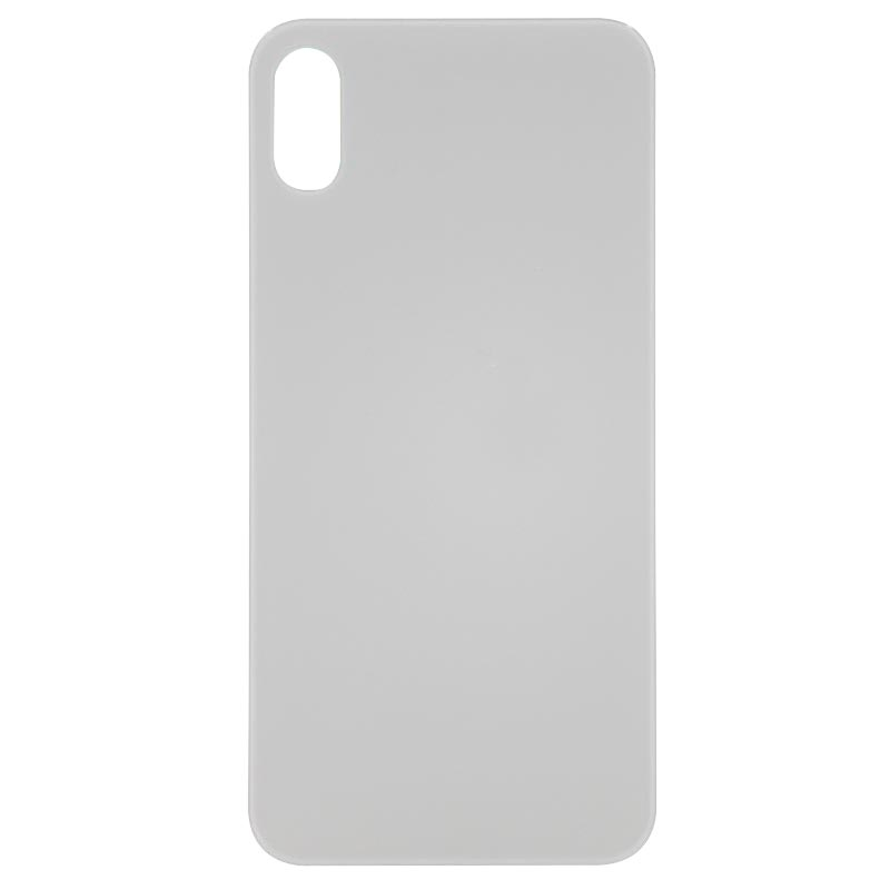 (Big Hole) Glass Back Cover for iPhone X (No Logo) (White)