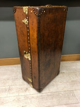 Load image into Gallery viewer, Antique Louis Vuitton Leather Wardrobe Trunk Bar Conversion