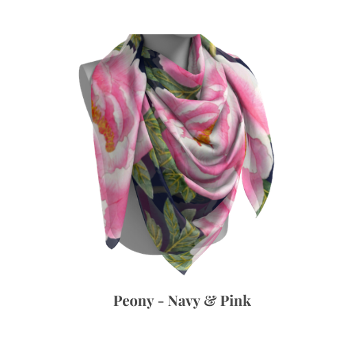 Peony Collection - Navy & Pink