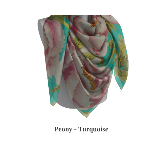 Peony Collection - Turquoise