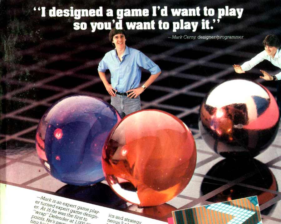 Mark Cerny, creator of Marble Madness and co-founder of Sega Technical Institute