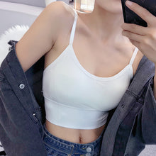 Load image into Gallery viewer, Women Tank Crop Top Sexy Female Underwear Seamless Crop Tops  Lingerie Femme Strap Adjustable Camisole Street Fashion Woman Top