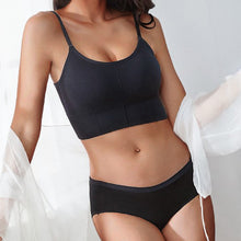 Load image into Gallery viewer, 4PCS Camisole Set Tank Crop Top + Cotton Panties Solid Color Bralette for Women Underwear Female Underpants Intimates Lingerie