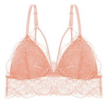 Load image into Gallery viewer, Sexy Deep V Floral Lace Bras Bralette Women Intimates Ultra Thin Belt Lingerie Wirefree Seamless Underwear Back Butterfly 2019